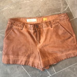 Anthropologie Pilcro Leather Shorts